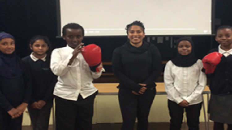 3rd March: Boxing Champion Visits RCPS
